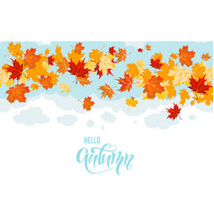 hello fall card vector image