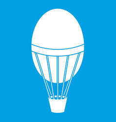 Hot air balloon icon white vector