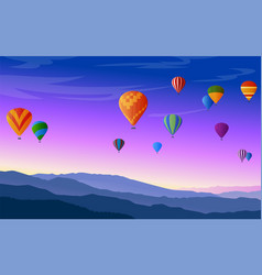 hot air balloons festival vector image