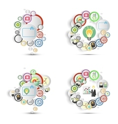 Infographics set with icons for business vector image
