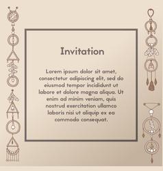 invitation design swirly for events vector image