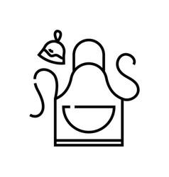Kitchen apron line icon concept sign outline vector