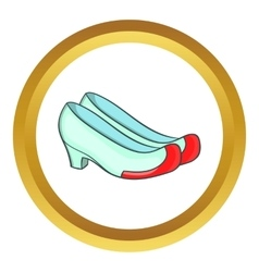 Korean traditional shoes icon vector