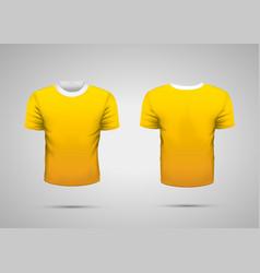 mockup blank yellow realistic sport t-shirt vector image