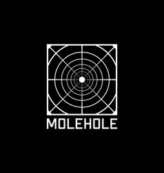Mole hole t-shirt and apparel design perspective vector