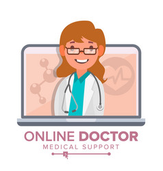 online doctor woman medical consultation vector image