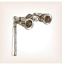 Opera glasses sketch style vector