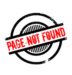 page not found rubber stamp vector image