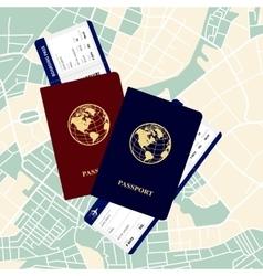 passports tickets vector image