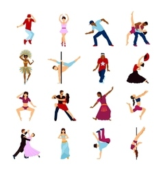 People Dancing Set vector image
