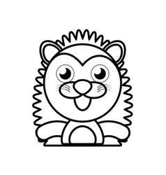 Porcupine animal toy outline vector