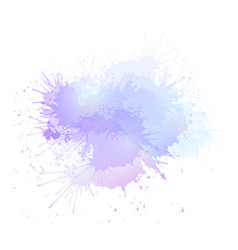 purple watercolor splashes the object is separate vector image