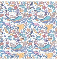 Sea sketch pattern vector image