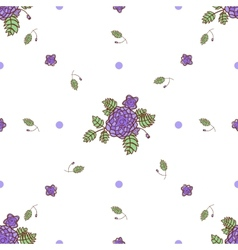 Seamless pattern with abstract roses vector image