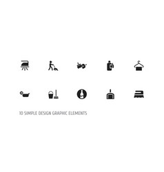 set of 10 editable hygiene icons includes symbols vector image