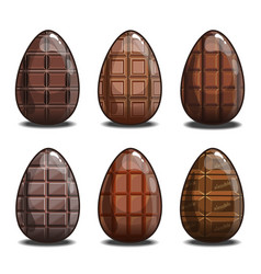 Set with chocolate eggs vector