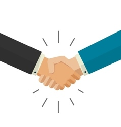shaking hands business vector image