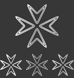 Silver line company logo design set vector