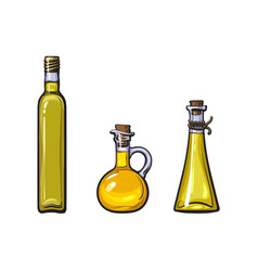 Sketch olive oil logo icon set isolated vector