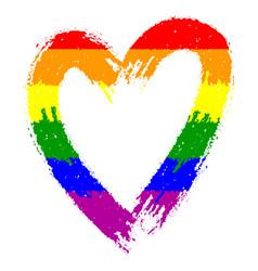 Sketch rainbow colored scribble heart vector