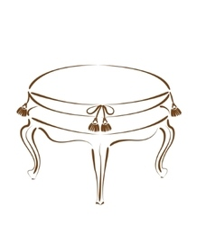 Sketched stool banquette vector