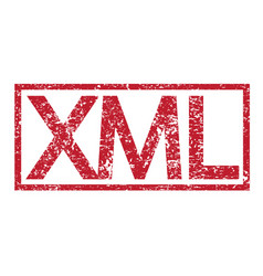 stamp text xml vector image