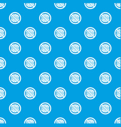 Stop fast food pattern seamless blue vector