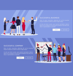 successful business web set vector image