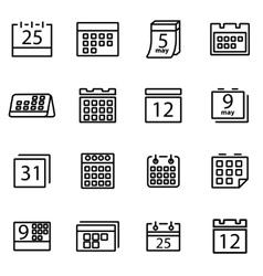 Thin line icons - calendar vector