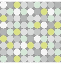 Tile pattern with polka dots on grey background vector