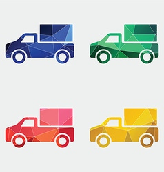 truck icon Abstract Triangle vector image