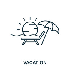 vacation outline icon thin line concept element vector image