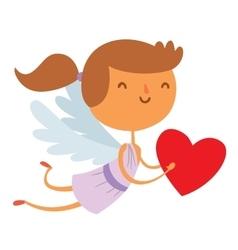 Valentine Day cupid angels cartoon style vector
