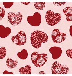Valentine seamless with hearts vector image