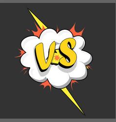 versus vs letters comics style vector image