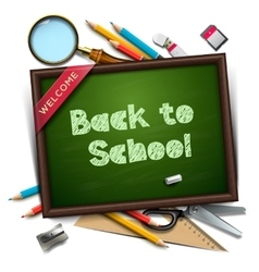 Welcome back to school template vector image