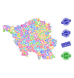 Welcome collage of mosaic map of saarland state vector