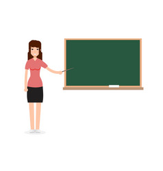 woman female teacher on lesson at blackboard vector image