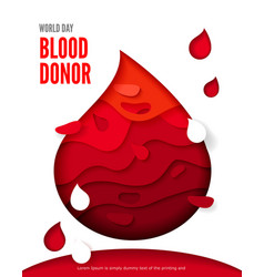 World blood donor day posters or invitations vector