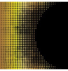 abstract golden halftone background vector image