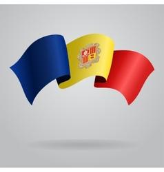 Andorran waving Flag vector image vector image