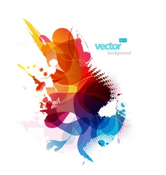 colorful splash vector image vector image