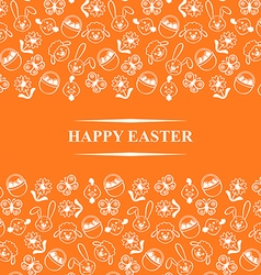 easter muzzle card orange vector image