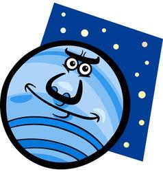 funny neptune planet cartoon vector image vector image