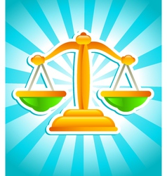 golden balance scale vector image