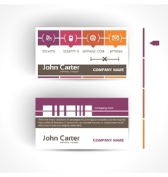 Modern and simple light business card template in vector image vector image