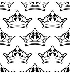 Royal crown seamless pattern vector