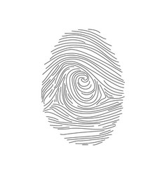 set of fingerprints icons id security identity vector image