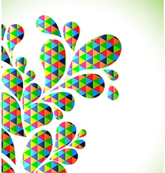 Abstract colorful drop background vector image