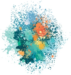 Color background of paint splashes vector image
